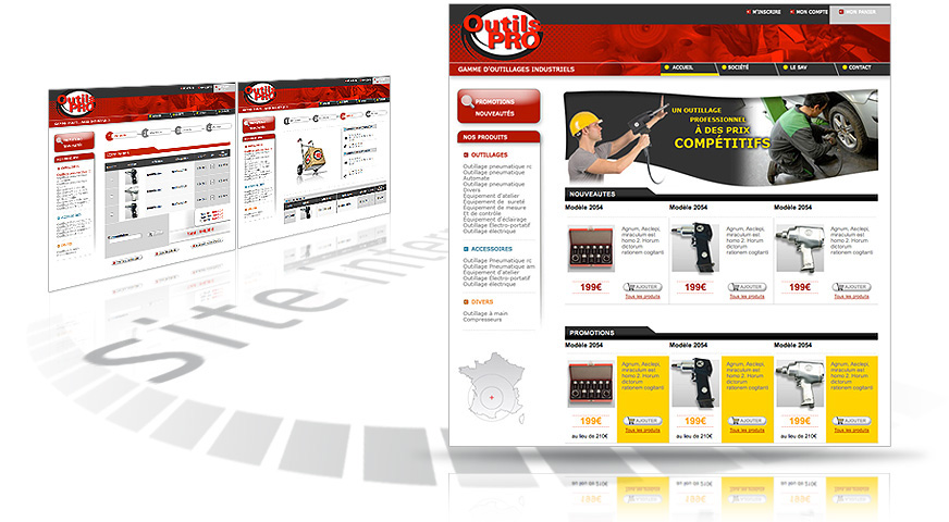 creation du site internet e-commerce outils pro
