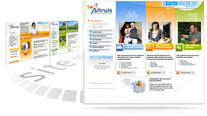creation du site internet Atruis - services à domicile
